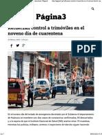 Refuerzan control a trimóviles en el noveno día de cuarentena - Página3