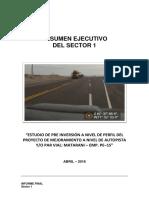 Perfil Carretera Matarani – Emp. PE–1S