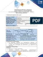 Guía de actividades y rúbrica de evaluación - Tarea 1 - Hidrocarburos alifáticos
