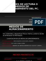 UNIDADES DE LECTURA O MEDIOS DE ALMACENAMIENTO DEL PC