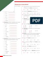 Ficha cero - Generatriz de un número decimal