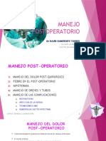 CLASE 2 MANEJO POSTOPERATORIO 2020