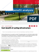 Cycling infrastructure is an economic asset for society as a whole