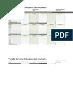 Tarjeta de horas trabajadas del empleado (diaria, semanal, mensual y anual)1