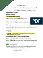 TALLER DE CAPACITACITANCIA FÍSICA CAMPOS 2 CORTE