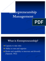Entrepreneurship Management Kiran