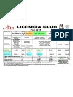 Licencias CLUB 2011