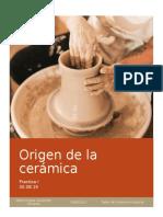 Origen de la cerámica - Taller de Ceramica Industrial