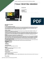 Compujob - Impressão de produto All-in-One HP Omni 100-6110br QS445AA