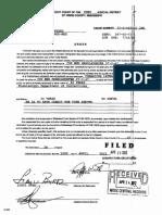 Sentencing Order for D. Banyard