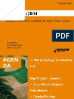 ISO 14001 Aspect -Impact Analysis