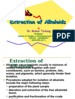 Extraction of Alkaloids