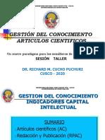 CONFERENCIA ARTICULOS CIENTIFICOS UNDQT-CUSCO 13 MARZO 2020