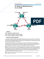 6.3.3.7 Lab - Designing and Implementing IPv4 Addressing with VLSM