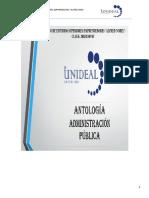 ANTOLOGIA  ADMINISTRACION PUBLICA
