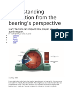 Understanding lubrication from the bearing