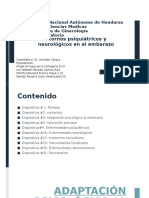 Enfermedades Psiquiatricas y Neurologicas durante el Embarazo y Puerperio