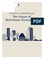 The Future of Real Estate Transactions Oxford Report Full