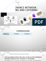 Difference Between Hearing and Listening