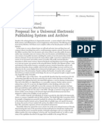 Proposal for a Universal Electronic Publishing System and Archive