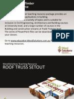 Roof truss Setout