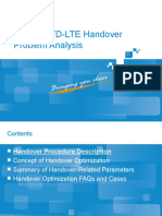 Guide to TD LTE Handover Problem Analysis
