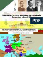 Formarea Statului National Unitar Roman - Prezentare Interactiva XII Istorie