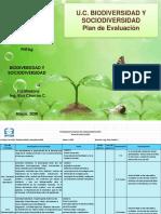 Plan de Evaluaciòn Biodiversidad y Sociodiversidad 2020