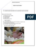 NEED OF NEW BORN AND PARENTING PROCESS