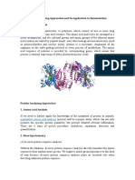 Protein Analyzing Approaches and Its Application to Immunization