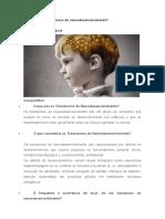 O que são os transtornos do neurodesenvolvimento - 2