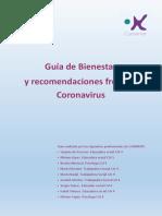 Guía de Bienestar y recomendaciones para hacer frente al corona virus