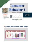 Consumer Behavior DA-1