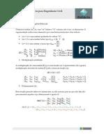 métodos numéricos  lista de exercícios