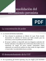 La consolidación del movimiento peronista