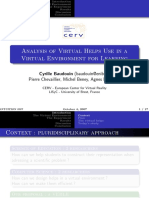 [Intuitions] Analysis of Virtual Helps Use in a Virtual Environment for Learning (Baudouin 2007)