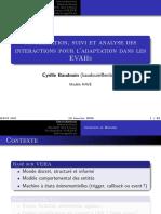 Modélisation, suivi et analyse des interactions pour l'adaptation dans les EVAHs (Baudouin 08)