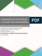 ELEMENTOS DE EXISTENCIA Y VALIDEZ DEL MATRIMONIO