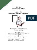 Medical Vocabulary DESCRIBING SIGN N SIMPTOM