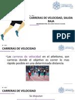 ATLETISMO CARRERAS DE VELOCIDAD, SALIDA BAJA