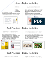 Best Practices – Digital Marketing