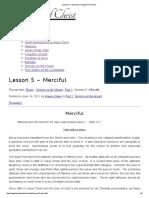 Lesson 5 – Merciful _ Kingdom of Christ
