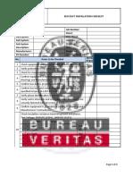 Bus Duct Installation Checklist