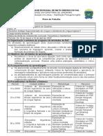 Plano de Trabalho - Estágio Supervisionado Língua e Literaruras de Inglês II