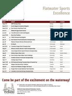 Welland International Flatwater Centre 202 schedule