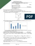 ENVIII Matematica 2020 Test 03