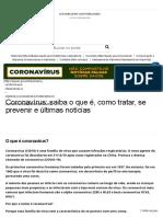 Coronavírus_ saiba o que é, como tratar, se prevenir e últimas notícias