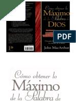 Como obtener lo maximo de la Pa - John Macarthur.pdf