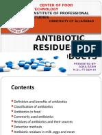 Antibiotic Residue in Foods
