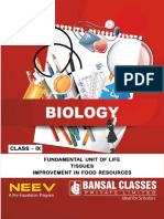 9th_Biology_01_Fundamental Unit of Life_02_Tissue_&_03_Improvement in Food Resources
